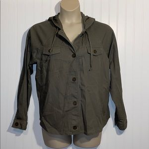 Maurices plus size lightweight jacket army green